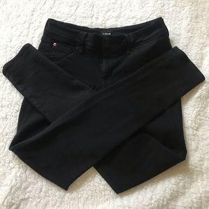 Hudson Collin Skinny Black Jeans Size 28